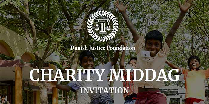 Charity middag invitation 2018